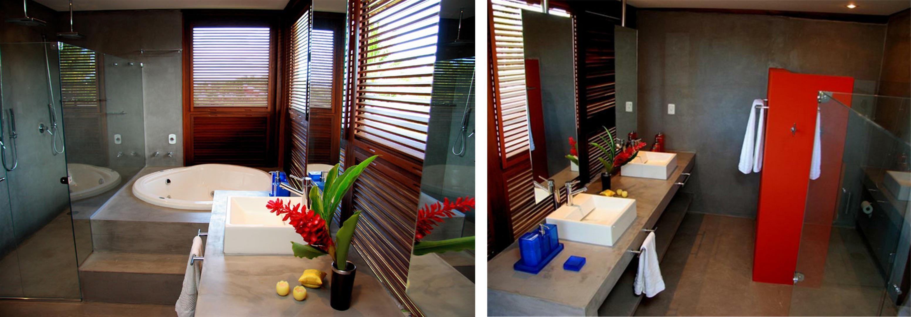 Pin Banheiro Com Revestimento Fotos E Imagens Decorado Pelautscom  #B81605 3104x1080 Banheiro Cimento Queimado E Pastilhas