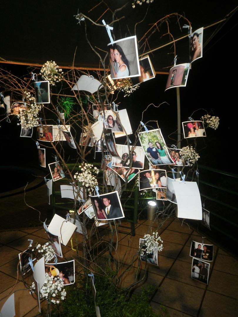 Ela Pegou Uma árvore Seca, Só Com Galhos, E Prendeu Várias Fotos Do ~ Decoracao Casamento Feita Pelos Noivos