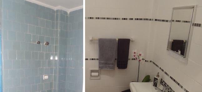 Pintando azulejos antes e depois tijolosetecidos - Pintar azulejo ...