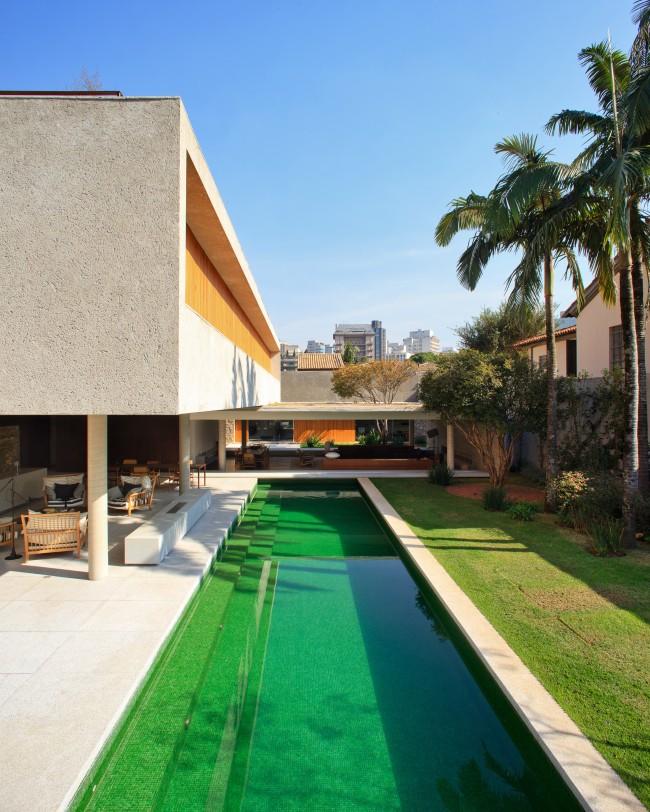 Piscinas com revestimento verde tijolosetecidos for W piscinas