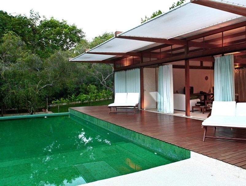 Piscinas com revestimento verde continua o - Agua de piscina verde ...