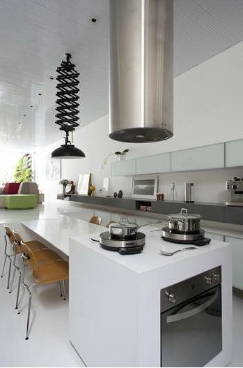 Bancadas Brancas na Cozinha – Quais pedrasmateriais usar?  tijolosetecid # Bancada Cozinha Modular