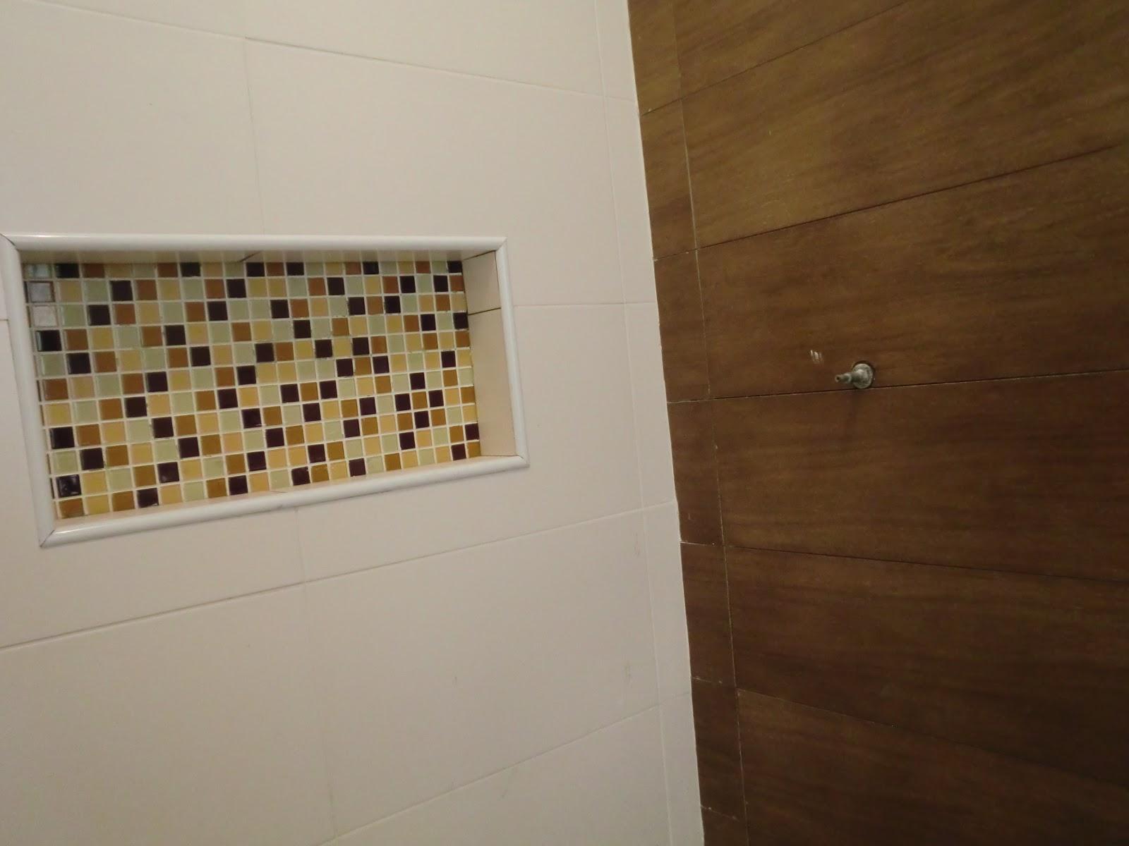 #402816 Nicho no Box – Quais Materiais Usar? tijolosetecidos 1600x1200 px Banheiro Nicho Pastilhas 2731