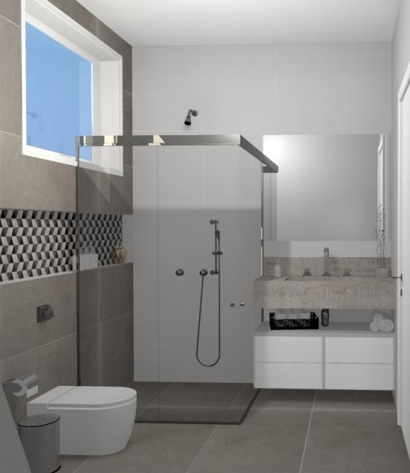 Nicho  tijolosetecidos -> Nicho Alvenaria Banheiro