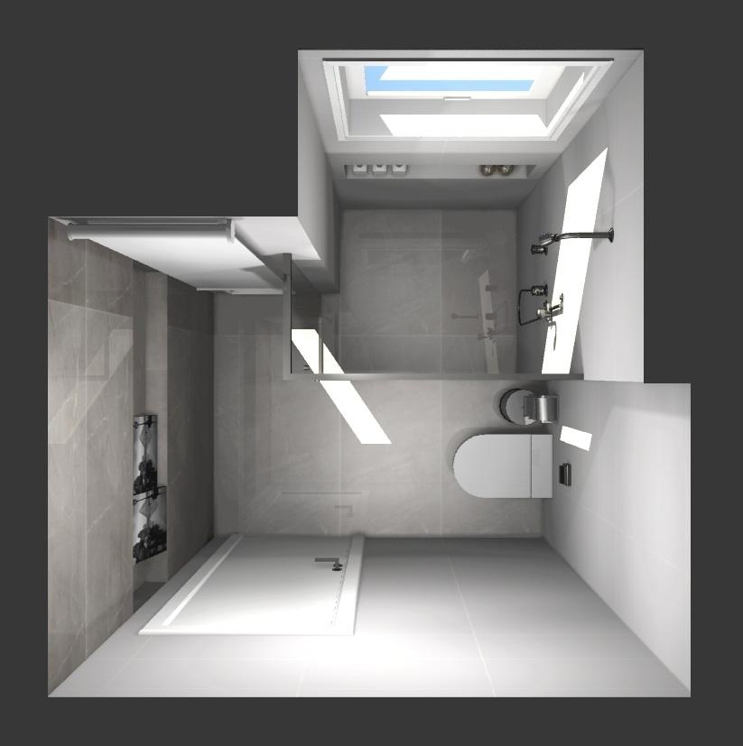 Revestimentos do Banheiro Social – Projeto em 3D  tijolosetecidos -> Dimensao Banheiro Pequeno